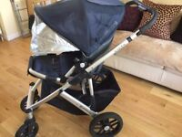 Uppababy vista pram system with cabriofix car seat in Taylor blue. £175 ono