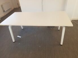 Compact white office desk/meeting/table