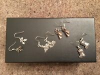 Earrings, Christmas themed