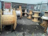 Cable drums used for 're cycle various sizes from 600mm to 1600mm diameter