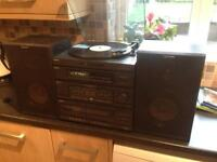 Sony stereo system record player