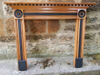 Timber feature fireplace surround in beautiful condition. £55 onco. Must be collected.