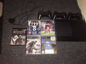 PS3 1 WORKING CONTROLLER 2 FAULTY, 5 GAMES BARGAIN
