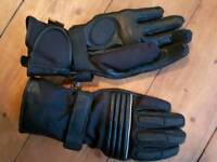 Cordura leather motorcycle gloves