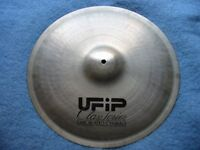 "SUPER RARE - 15"" UFIP Class Series 'Ear Created' Cymbal - with flat rim"