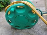 Hozelock hose reel with fixes