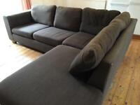 John Lewis corner sofa & footstool
