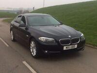 2011 BMW 5 Series 2.0 520d SE 4dr AUTO BLACK**LEATHER,SAT NAV,REV CAM**HIGH MILES