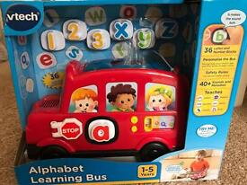 Kids alphabet learning bus