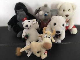 Collection of Coca Cola Advertising Plush Toys