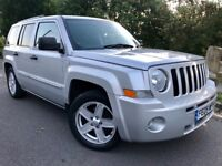 JEEP PATRIOT 2.0 CRD LIMITED SUV 4x4**FULL LEATHER**HEATED SEATS**S/HISTORY**1 FORMER KEEPER