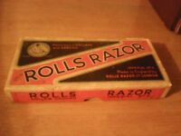 Vintage Rolls Razor with original box & instructions