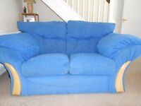 Blue 2 seater couch