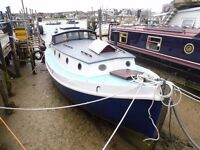 Houseboat with residential moorings for sale