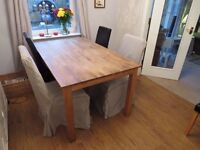 lovely extending table and 6 chairs only £75 for quick sale