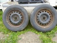 2x Avon Ice Touring and 2x Goodride Snow Master Winter Tyres on rims 185/65/16