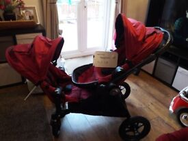 Baby jogger city select double pushchair with extras vgc