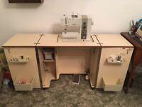 Horn Sewing Machine Cabinet - Teak
