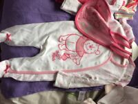 brand new two sets of baby clothes vest. babygrow , bib etc
