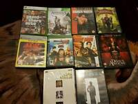 Xbox 360 games ps3 games and dvds for sale joblot