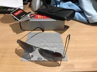 Genuine Rayban Aviator sunglasses c/w case and box