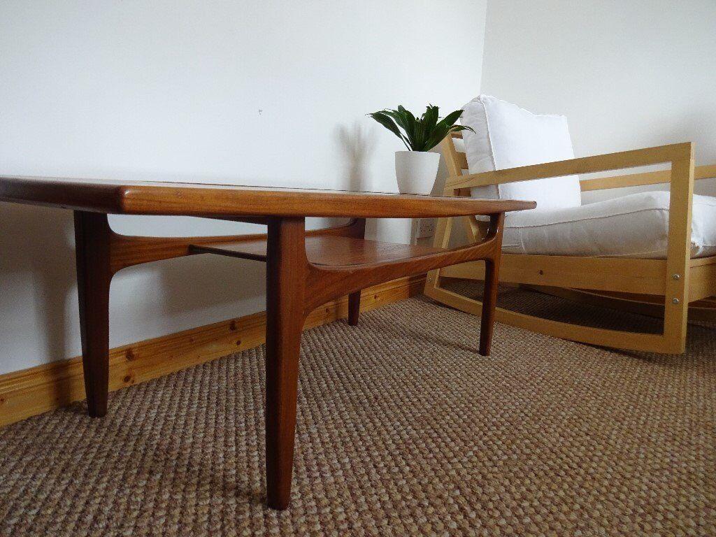 vintage mid century g plan 'fresco' teak coffee table with under