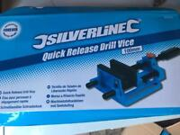 Silverline 350W Drill Press and Silverline Quick Release Drill Vice 380956 Both unopened.