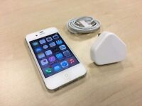 White Apple iPhone 4s 16GB On ee / orange / t - mobile Mobile Phone + Warranty