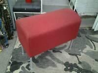 Cool red ikea fabric stool