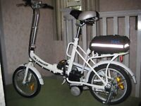 BRAND NEW White Dillenger Cheetah Electric Folding Bike inc Accessories RRP £450+ REDUCED TO £300