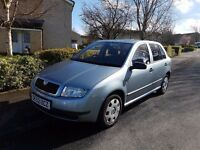 Skoda Fabia 1.4 Petrol. Low milage and MOT until 2018