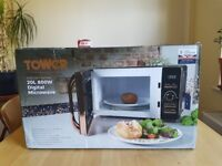 Tower 20L microwave, rose gold edition, new