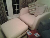 New Armchair and Footstool used once.
