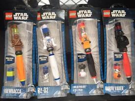 Lego Star Wars Minifigure Pens Brand New