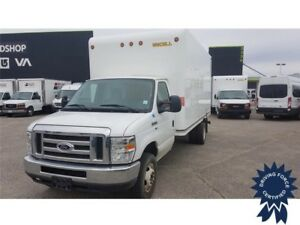 2016 Ford E-450 16 Ft Cube Van, 21,396 KMs, 5.4L V8 Gas