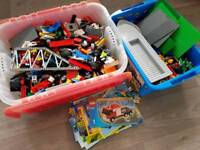 Approx 8.5kg mixed Lego Bundle 2 boxes plus some instructions