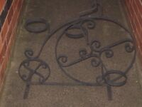 BESPOKE CAST IRON PENNY FARTHING BICYCLE PLANT POT STAND
