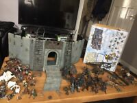 Lord of the rings battle at helms deep with may additional charecters weapons n such