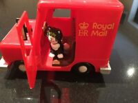 Postman Pat's red mail van including Jess the cat