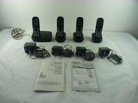 Panasonic Digital cordless phones - quad pack - KX TG304E - EXCELLENT CONDITION