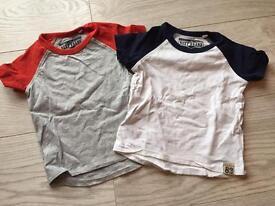 6 Next Baby Boy tshirts 6-9m