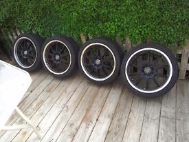 17 inch arrays 4 stud multi fit came off a mk 3 golf will also fit Peugeot good tyres 5 mm+LP