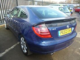 Mercedes C180 Auto,1998 cc Coupe,Panoramic roof,Alloys,all new brakes,runs and drives very well