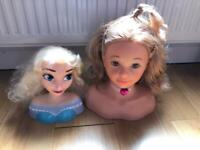 Dolls make up and hair heads and accessories