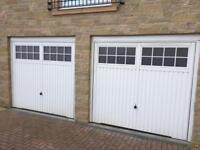 White Hormann garage doors - RF1 Ilkley 2101 style