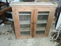 Wall china cabinet very old
