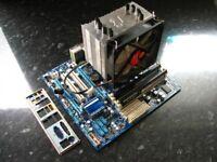 Gigabyte GA-H55M-UD2H, with Intel Core i3, heatsink, i7 compatable, with Corsair 8GB memory