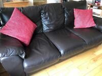 SOLD - Free leather sofa 2&3 seater