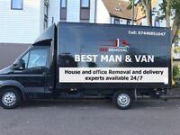 Man and van,big luton vans 24/7 available