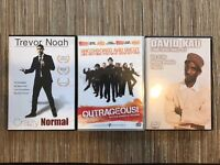 Set of 3 South African Comedy DVDs -Includes Trevor Noah, David Kau, Outrageous comedy Tour